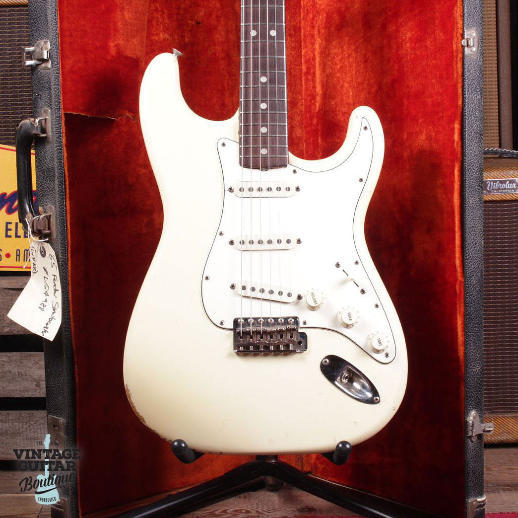 1965 Fender Stratocaster - Olympic White - Vintage Guitar Boutique - 3