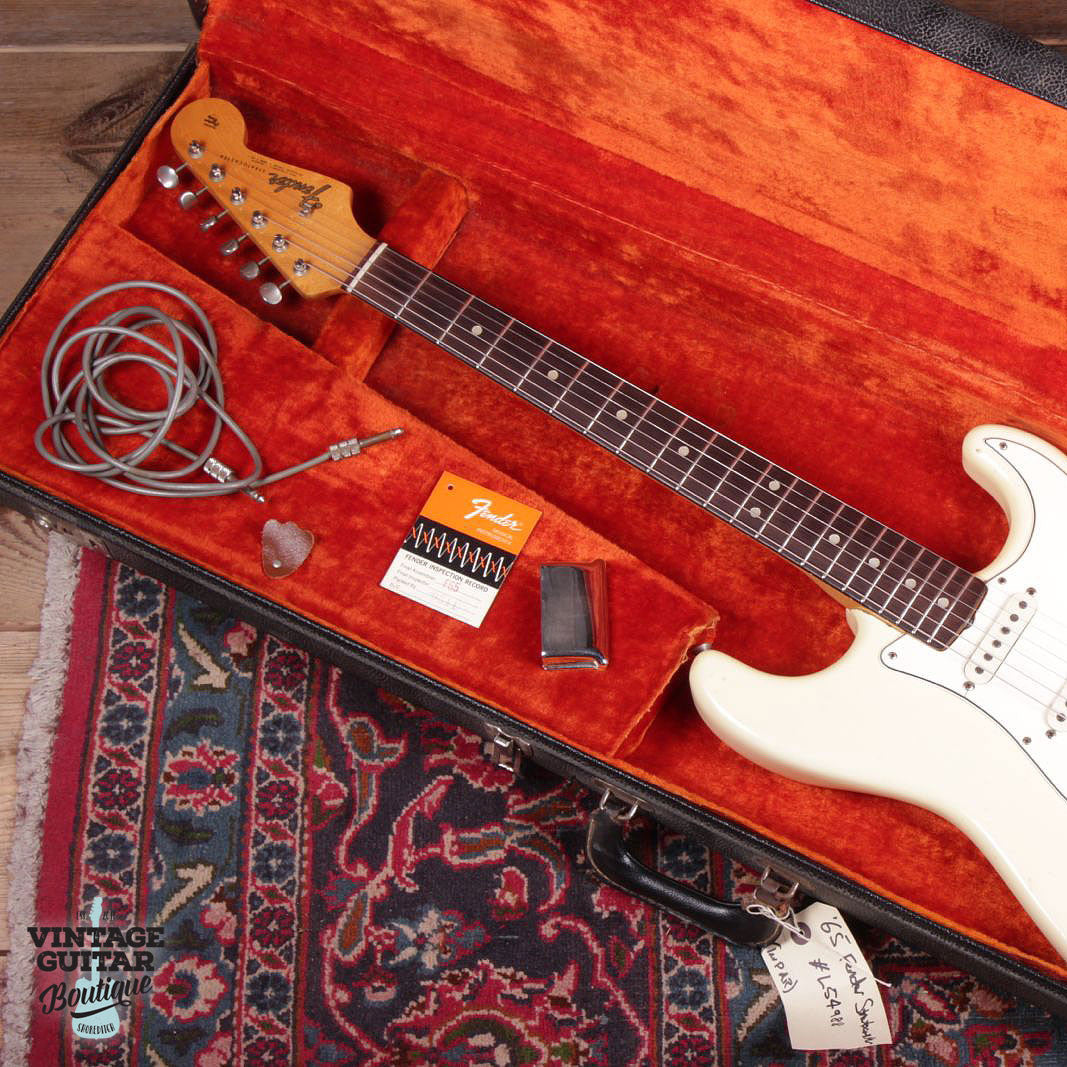 1965 Fender Stratocaster - Olympic White - Vintage Guitar Boutique - 5