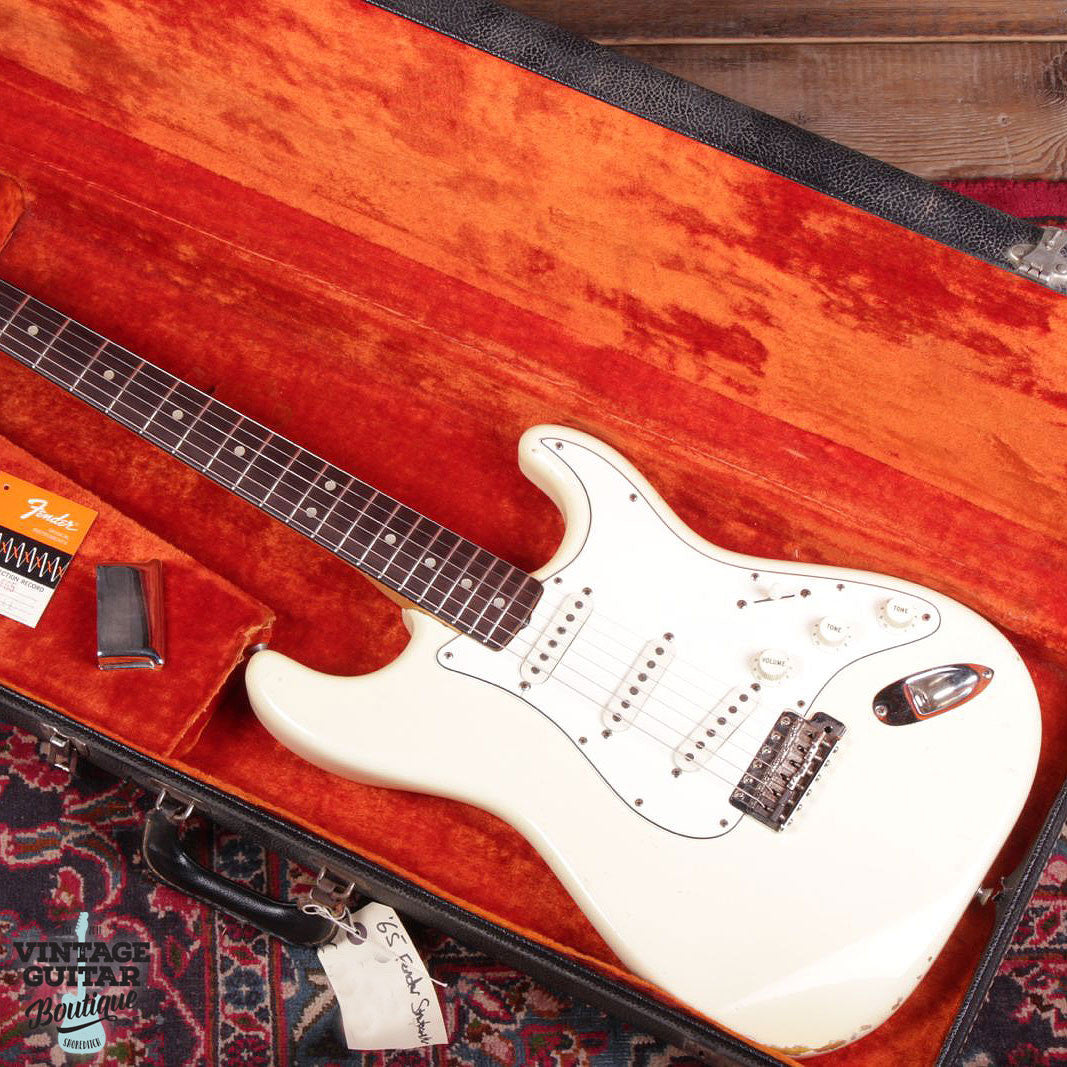 1965 Fender Stratocaster - Olympic White - Vintage Guitar Boutique - 2