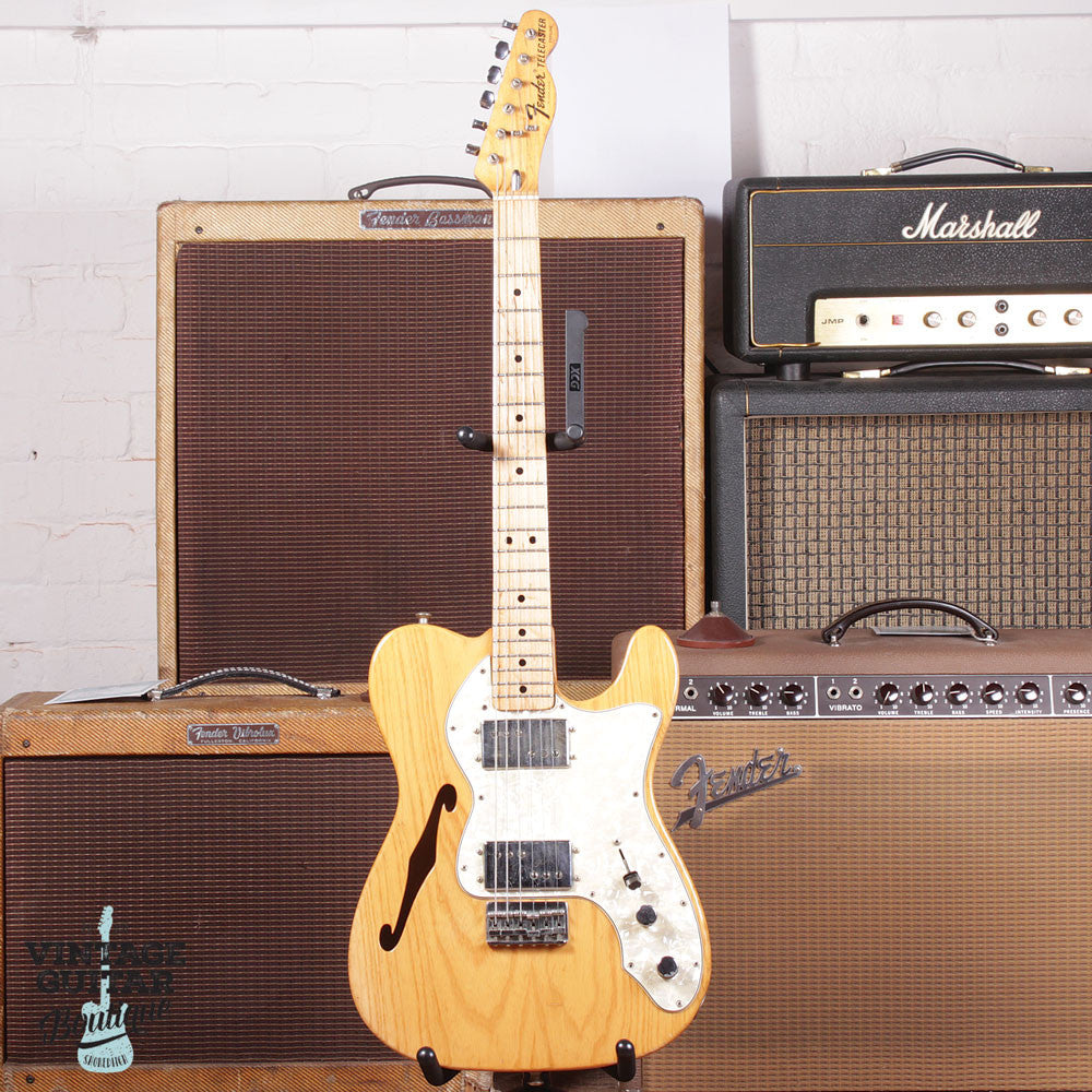1972 Fender Telecaster Type II Thinline - Natural - Vintage Guitar Boutique - 2