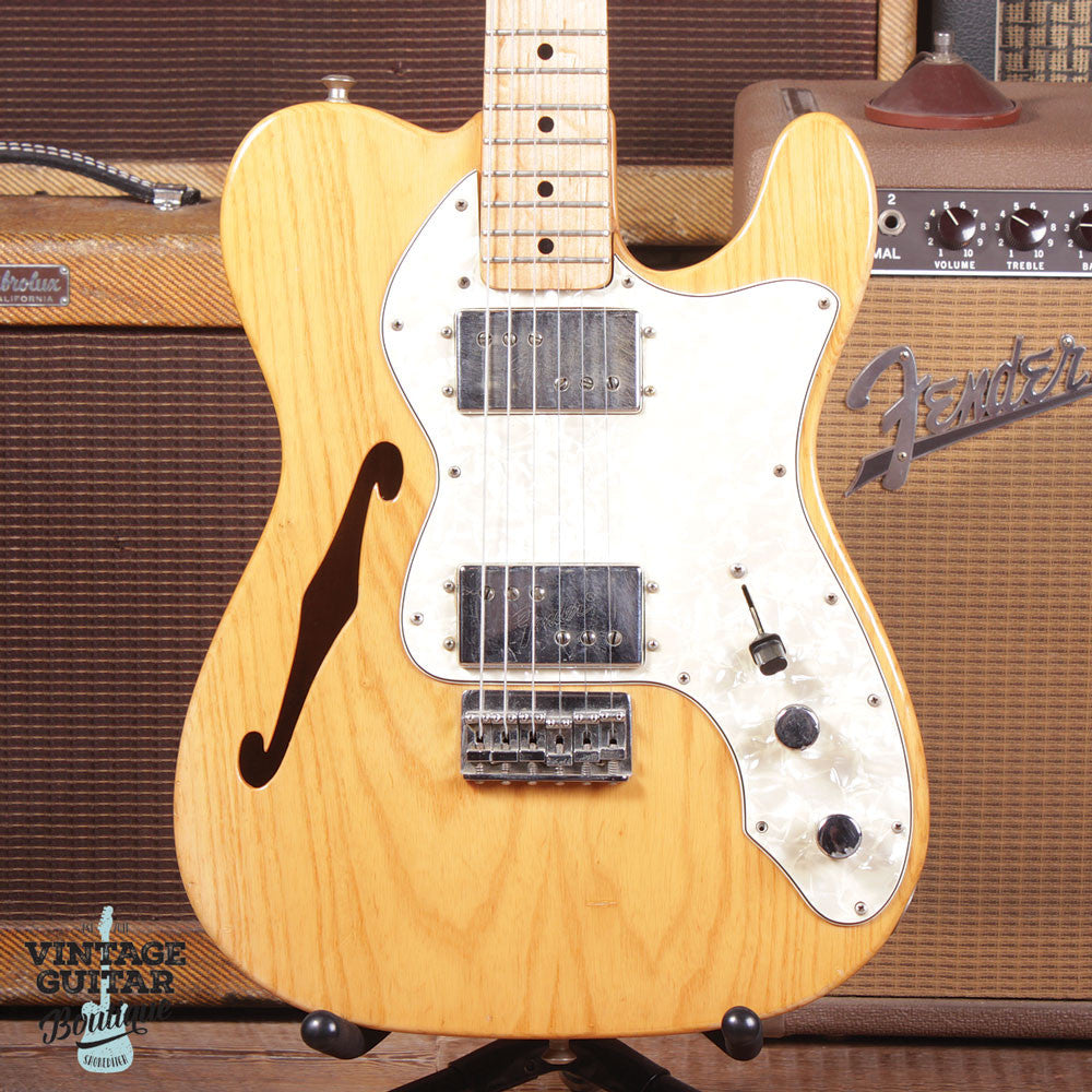 1972 Fender Telecaster Type II Thinline - Natural - Vintage Guitar Boutique - 3