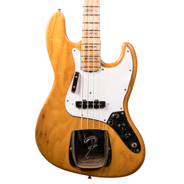 1975 Fender Jazz Bass - Natural | Lucky Fret Music Co.