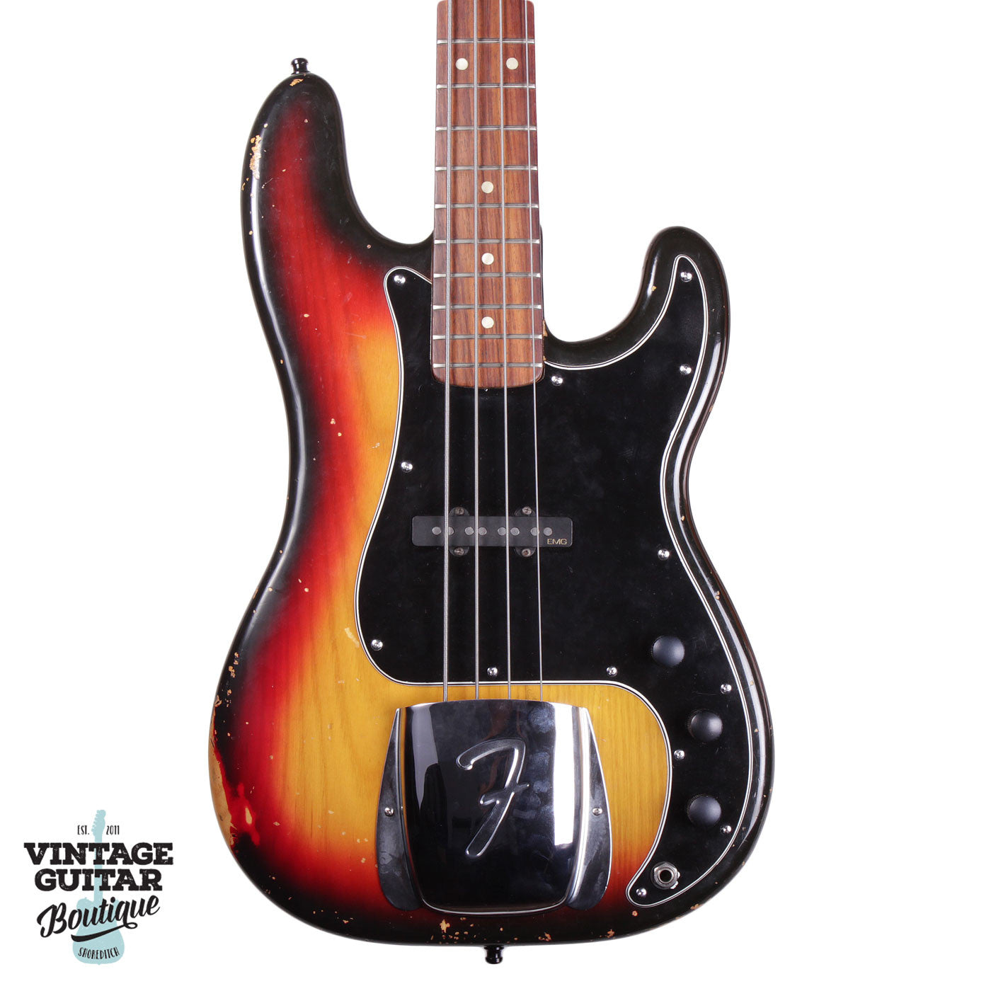 1976 Fender Precision - Jazz Conversion - Sunburst - Vintage Guitar Boutique - 1