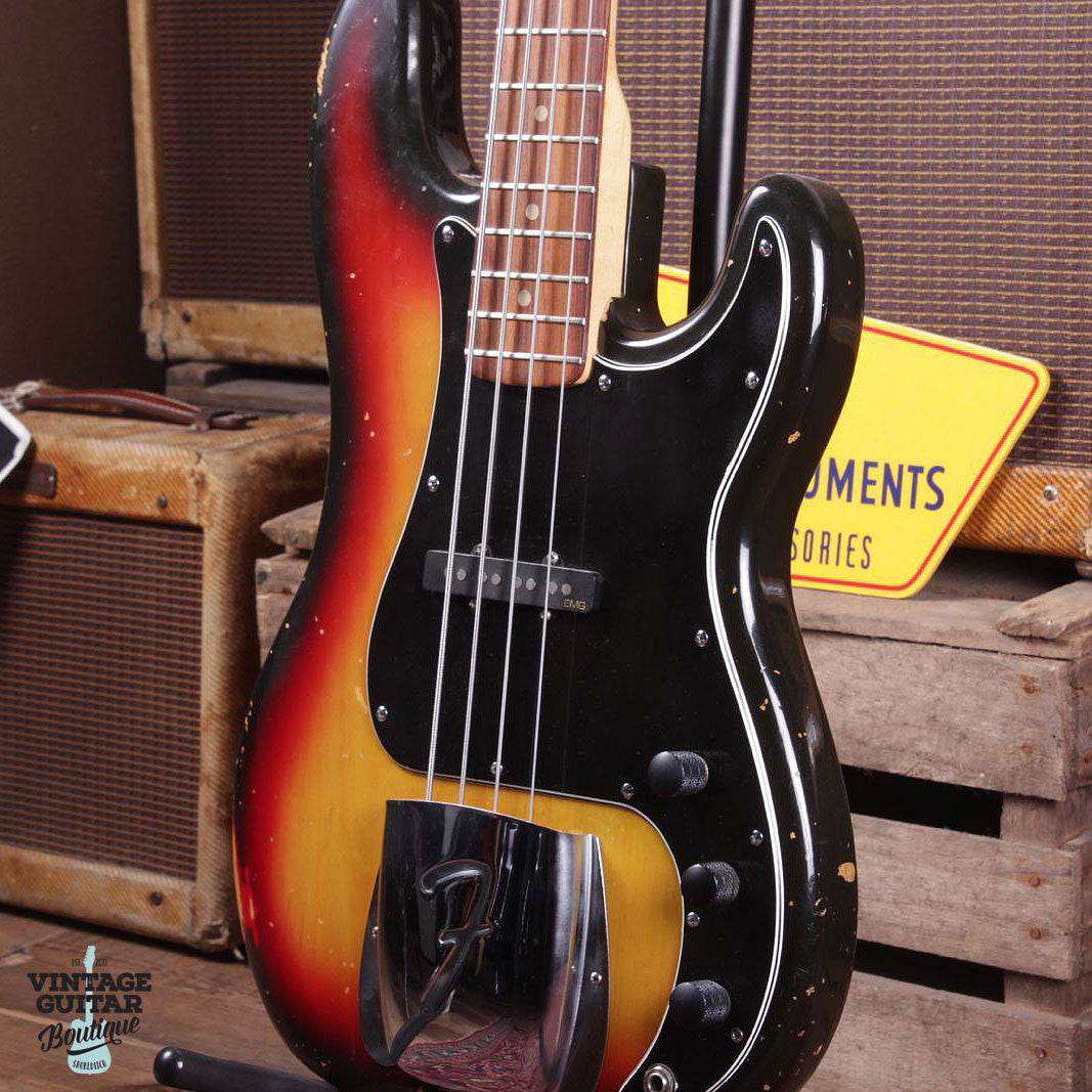1976 Fender Precision - Jazz Conversion - Sunburst - Vintage Guitar Boutique - 2