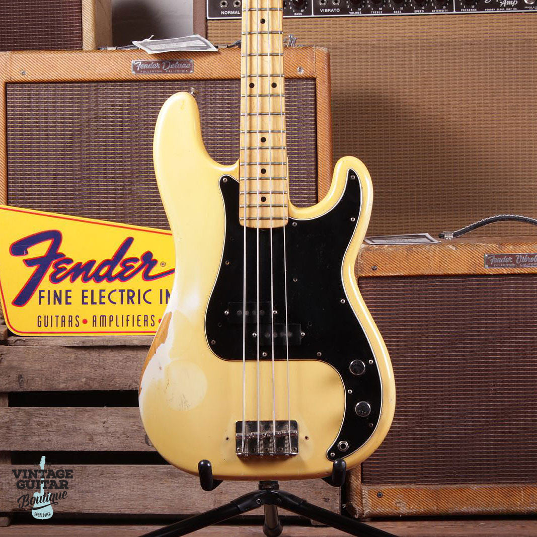 1977 Fender Precision Bass - Olympic White - Vintage Guitar Boutique - 2
