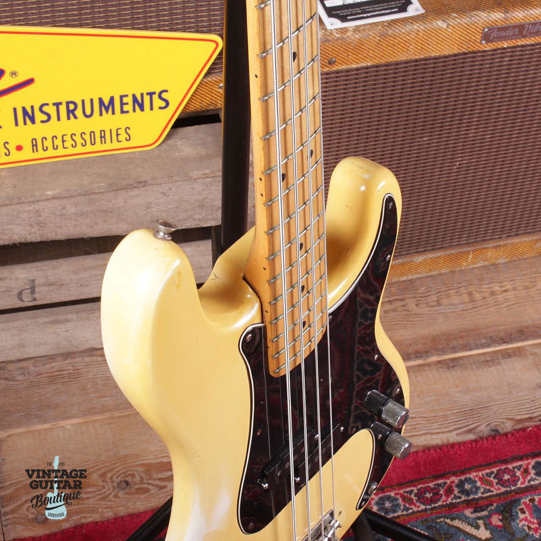 1977 Fender Precision Bass - Olympic White - Vintage Guitar Boutique - 5