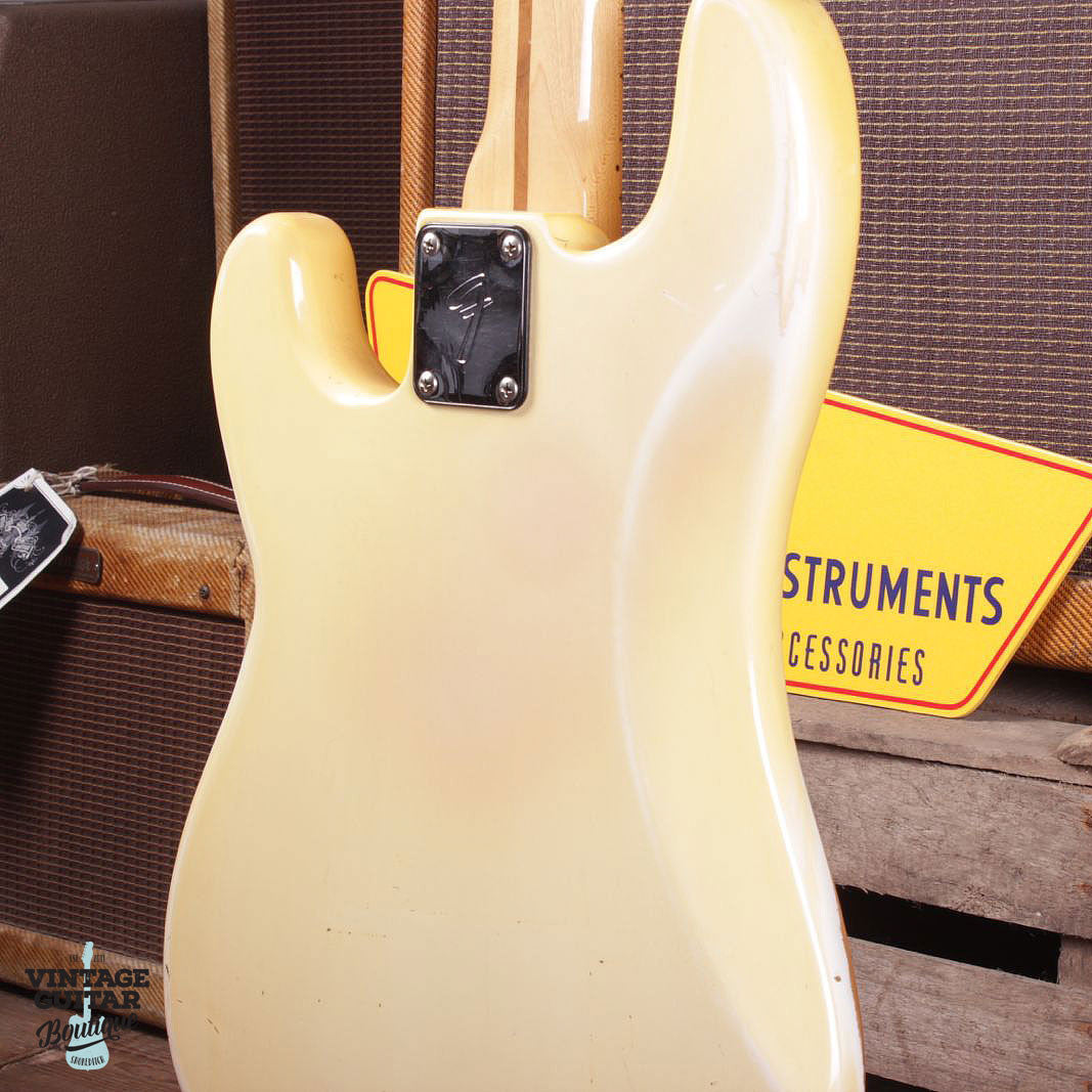 1977 Fender Precision Bass - Olympic White - Vintage Guitar Boutique - 7