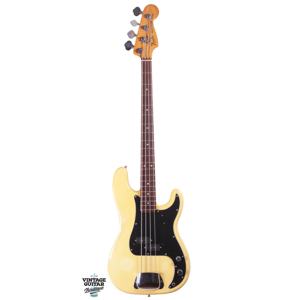 1978 Fender Precision Bass - Rosewood - Olympic White - Vintage Guitar Boutique - 2