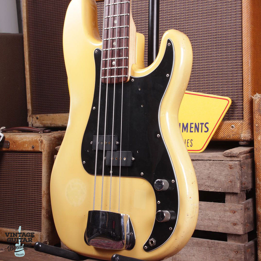 1978 Fender Precision Bass - Rosewood - Olympic White - Vintage Guitar Boutique - 3
