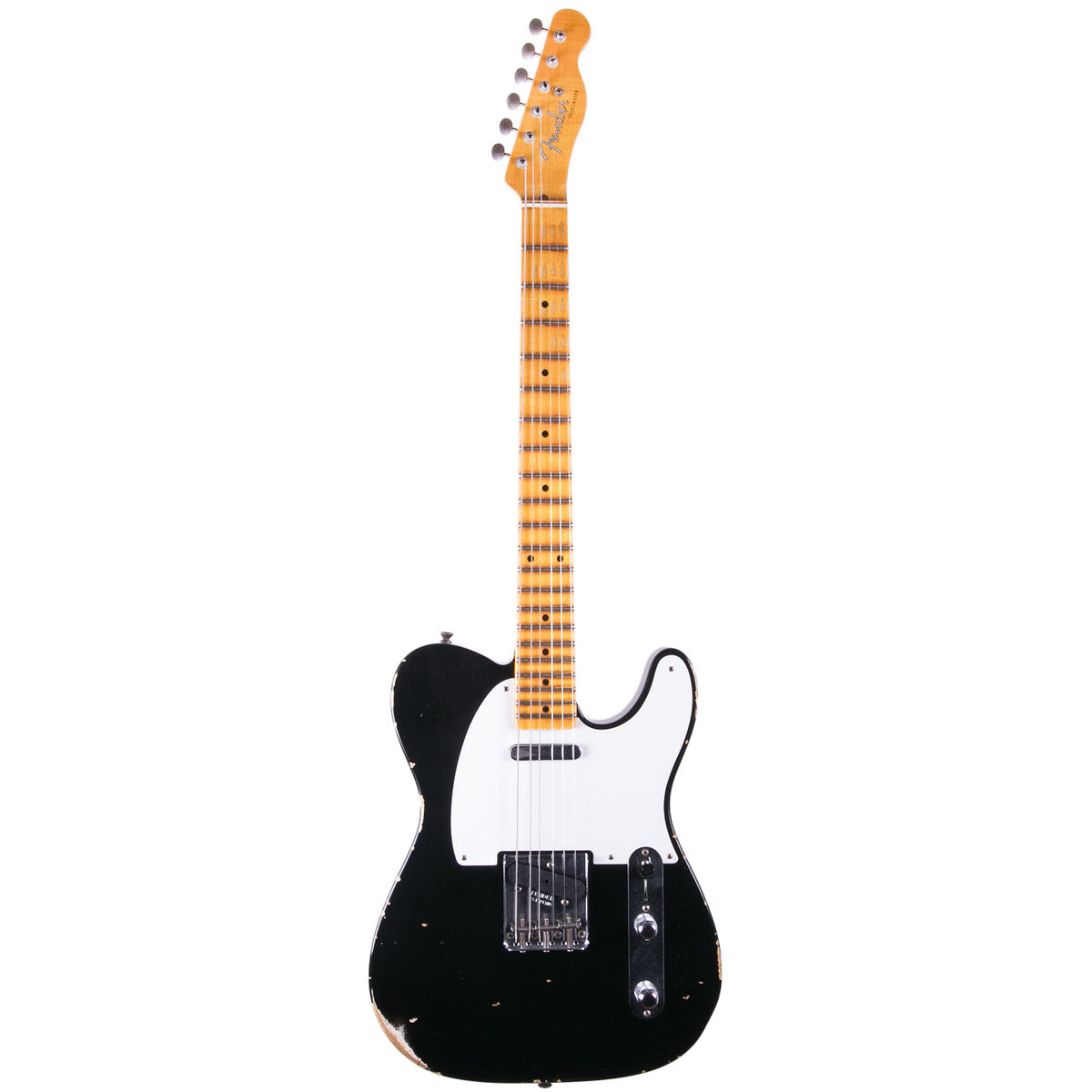 Fender Custom Shop 2018 Relic 1954 Telecaster Aged Black | Lucky Fret Music Co.