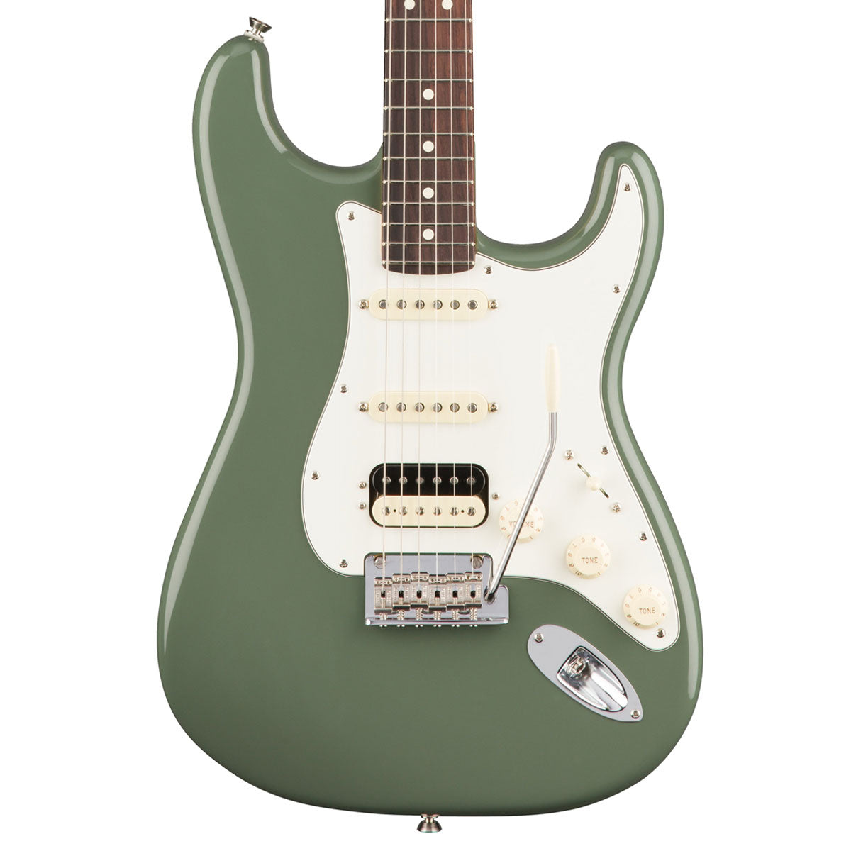 Fender American Pro Stratocaster HSS Shawbucker - Rosewood - Antique Olive | Lucky Fret Music Co.