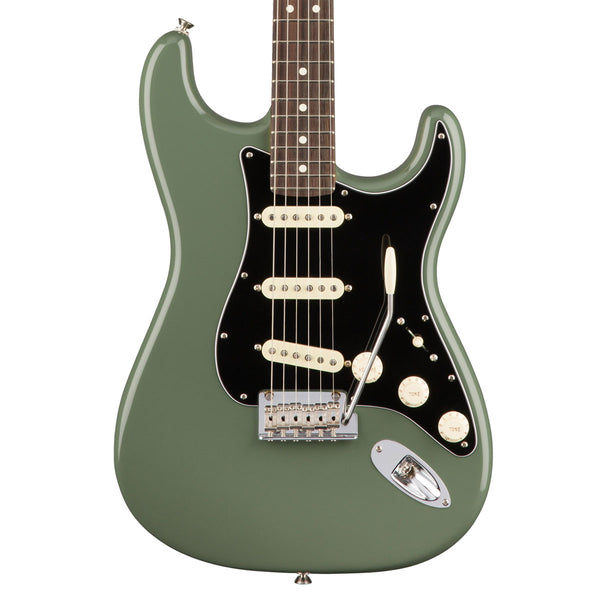 Fender American Pro Stratocaster - Rosewood - Antique Olive | Lucky Fret Music Co.