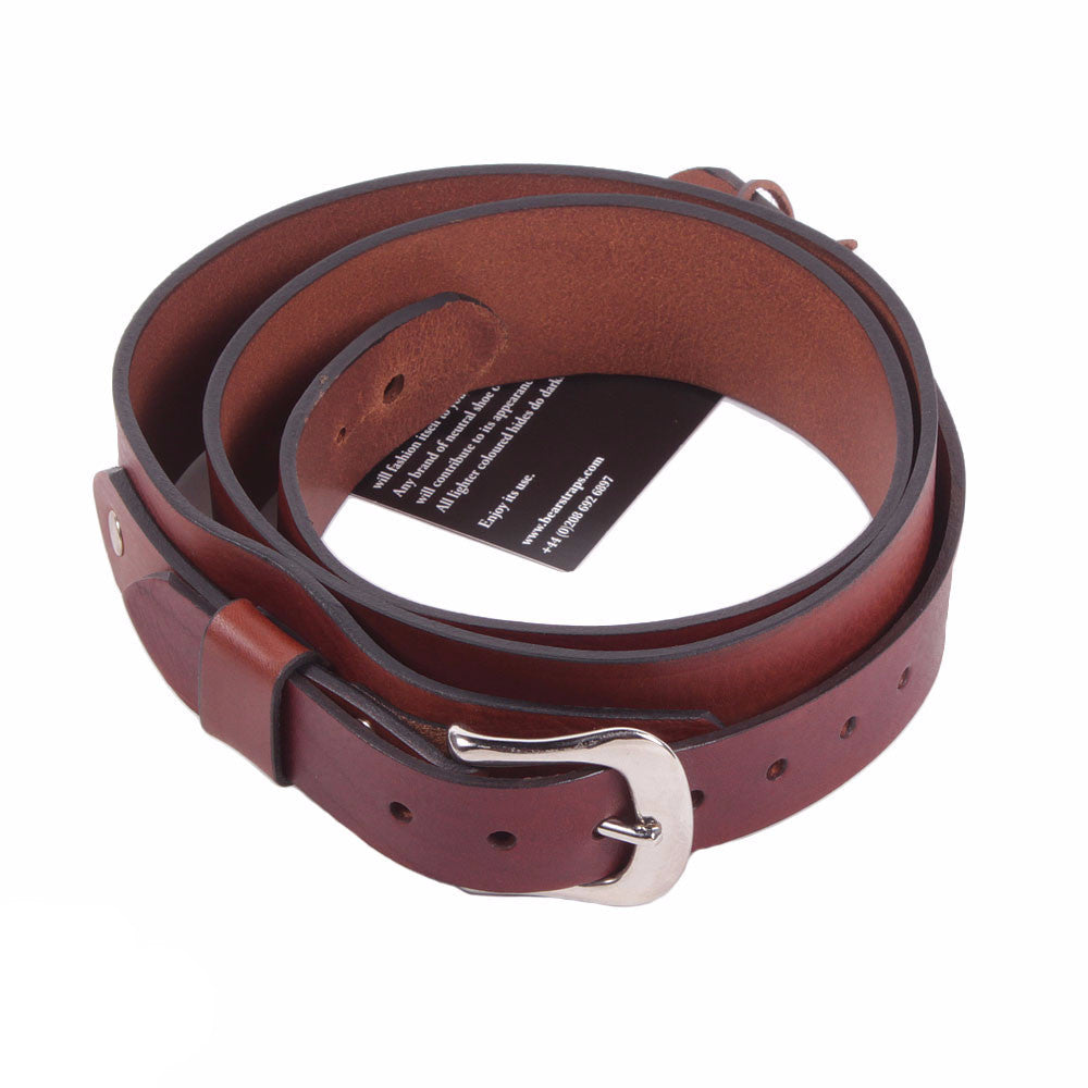 Bear Straps Slimline Classic - Brown/Chrome - Vintage Guitar Boutique