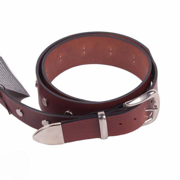 Bear Straps - Studded Western - Brown/Chrome - Vintage Guitar Boutique - 1