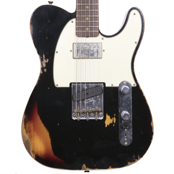 Fender Custom Shop 2018 Ltd Heavy Relic Reverse Custom HS Tele Aged Black Over 3 Color Sunburst