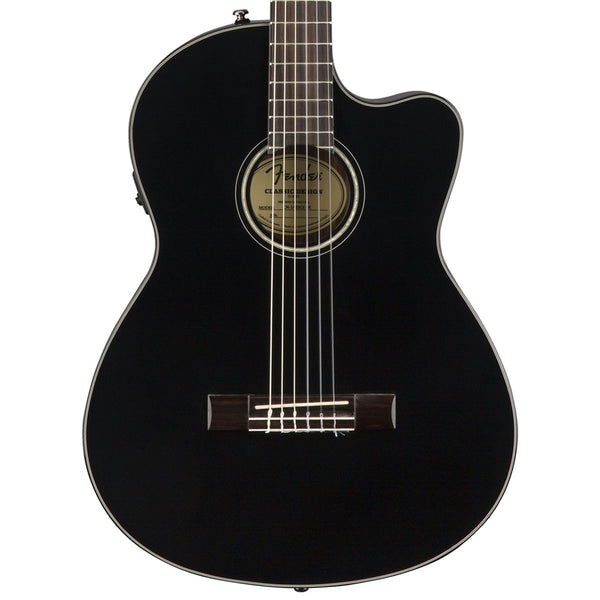 Fender CN-140SCE, Black with Case | Lucky Fret Music Co.