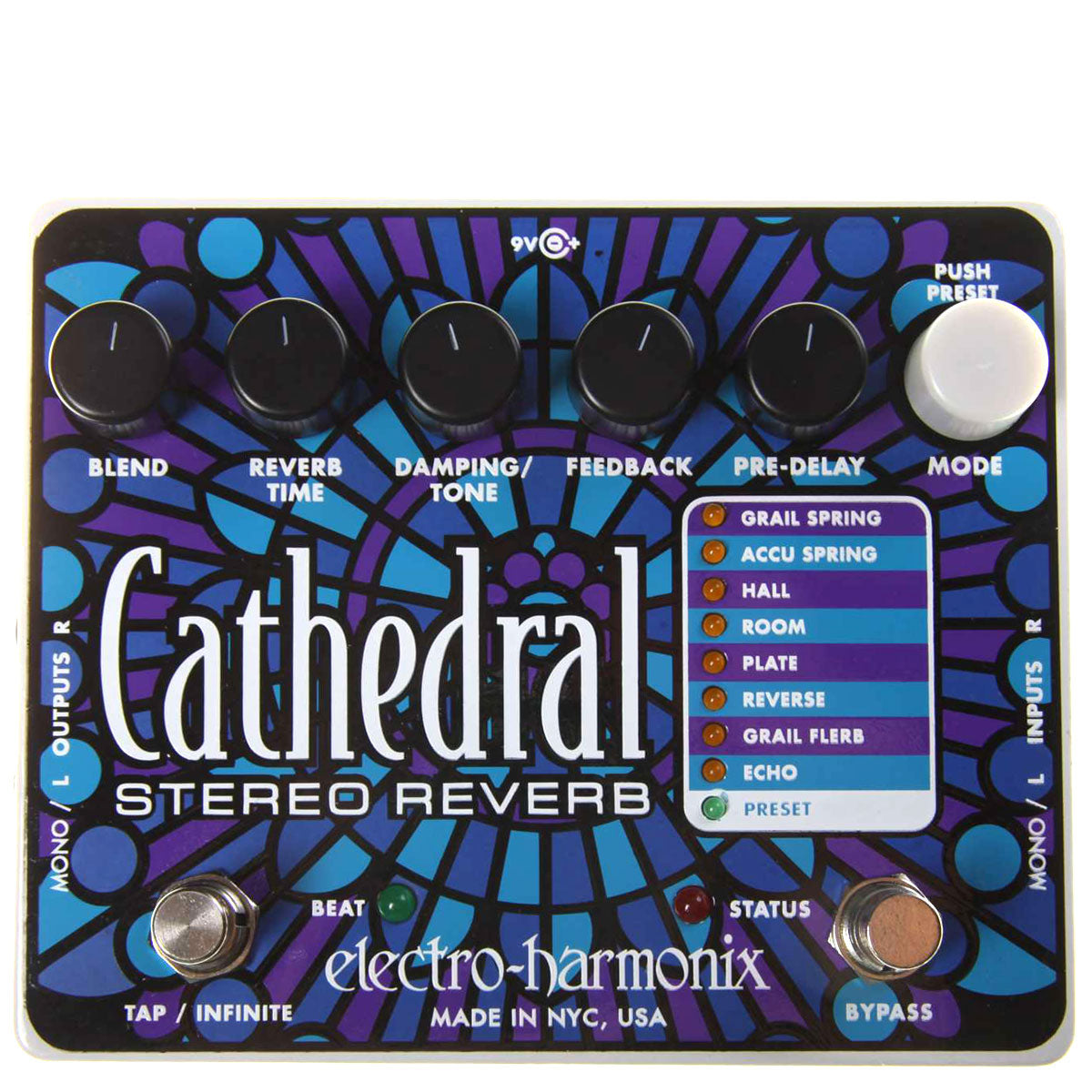 Electro Harmonix - Cathedral - Deluxe Stereo Reverb - (PSU Included) | Lucky Fret Music Co.
