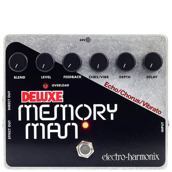 Electro Harmonix - Deluxe Memory Man - Analog Delay/Chorus/Vibrato (PSU Included) | Lucky Fret Music Co.
