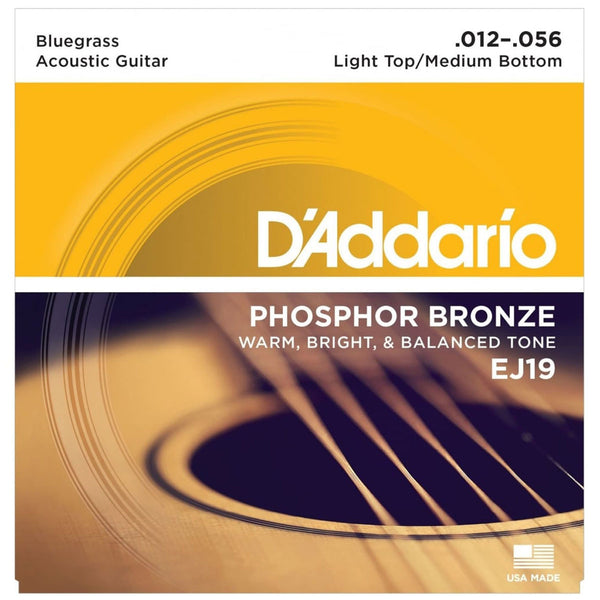 D'Addario - EJ19 Phosphor Bronze Bluegrass 12-56 | Lucky Fret Music Co.