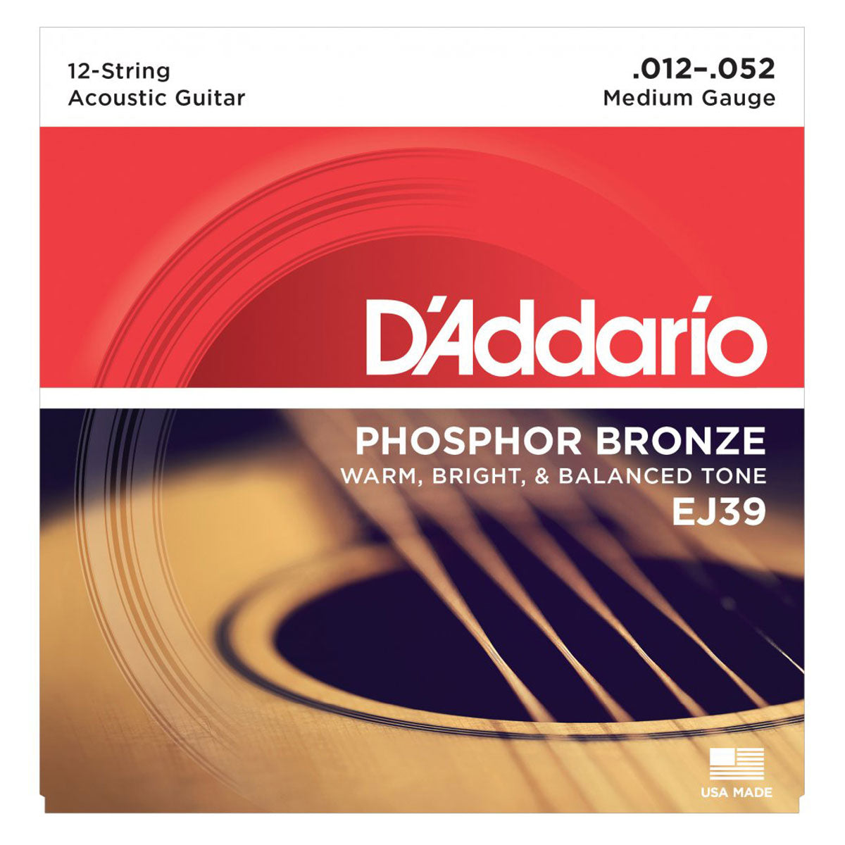 D'Addario - EJ39 Phosphor Bronze Light 12-String Set