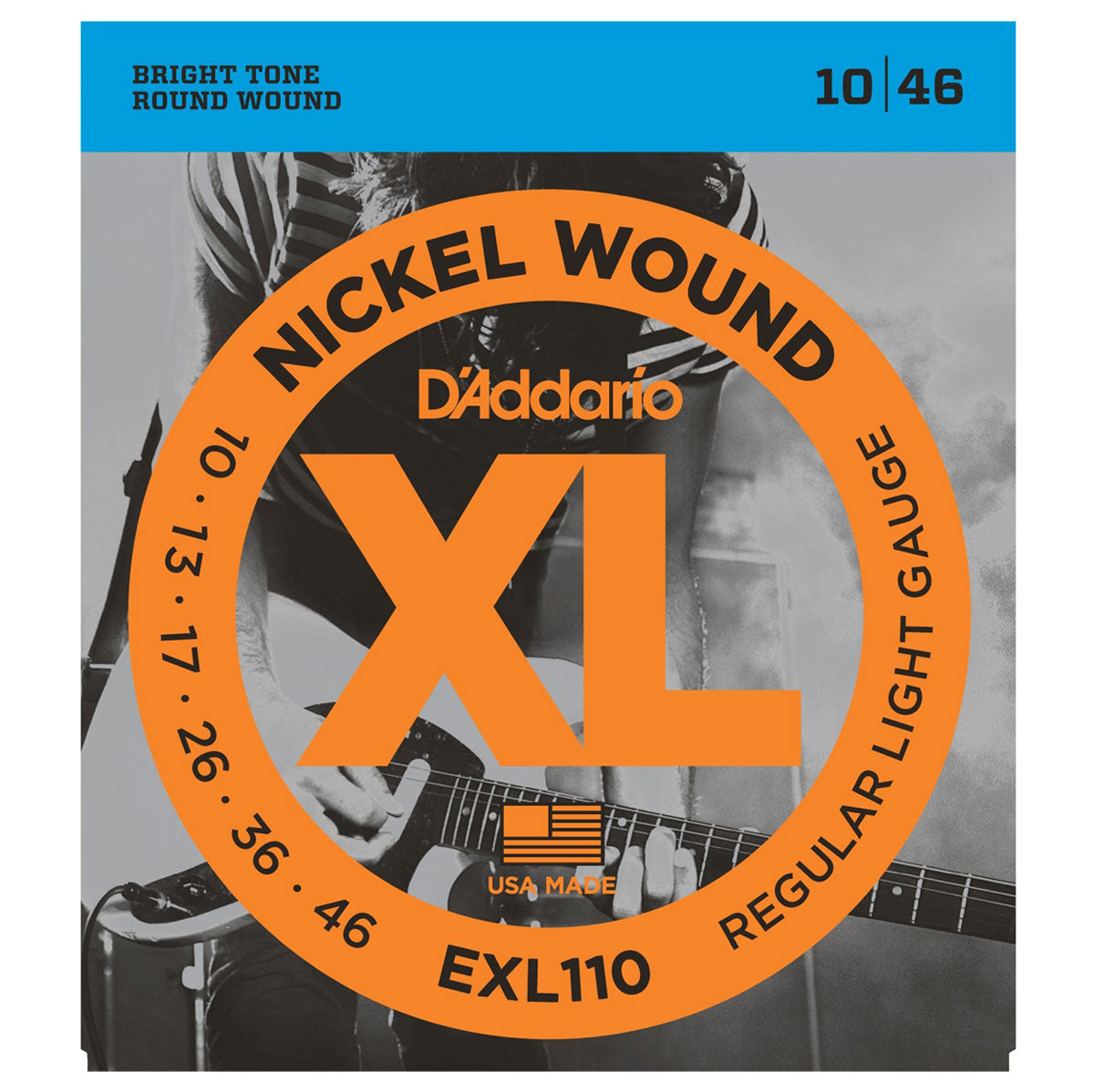 D'Addario - EXL110 Nickel Lights 10-46
