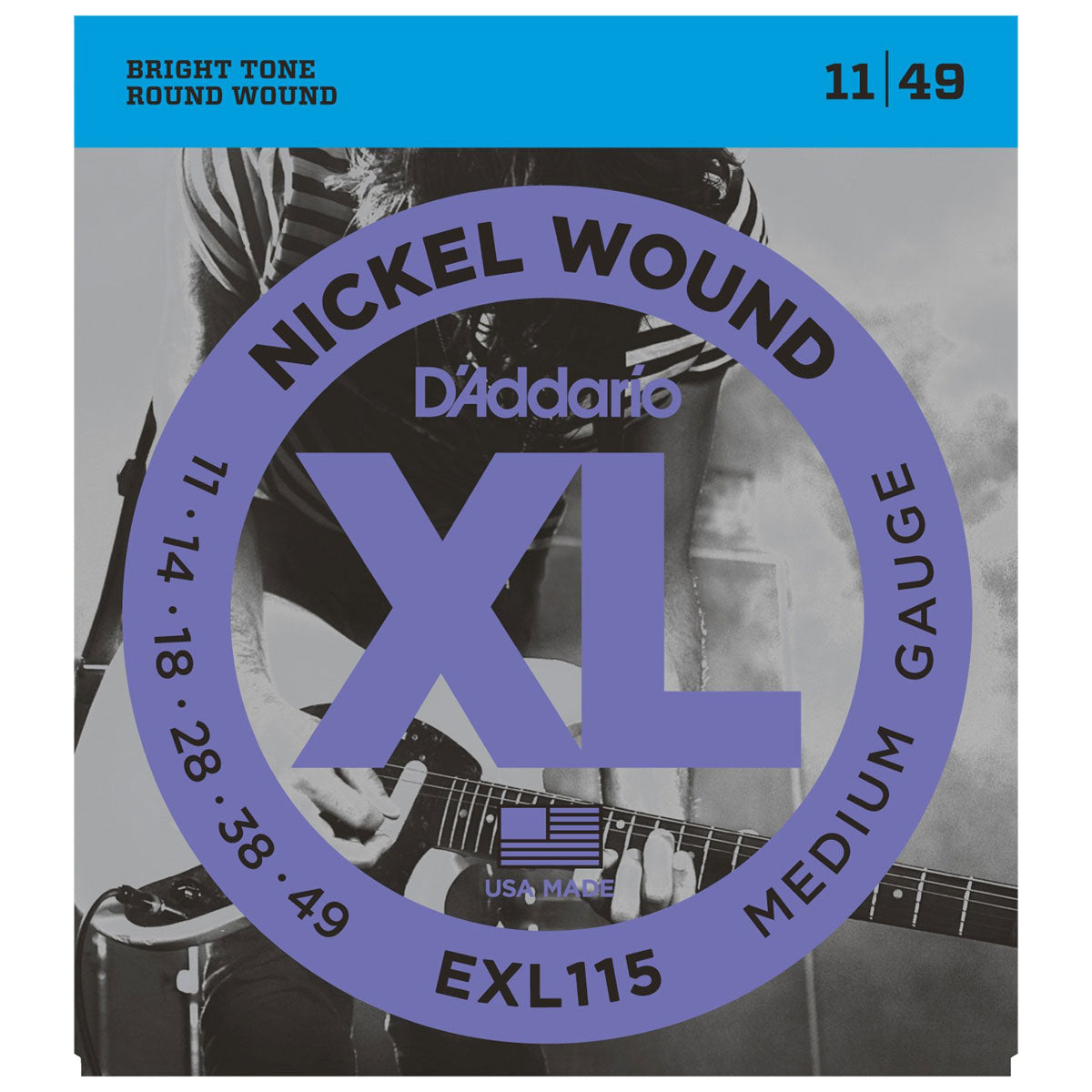 D'Addario - EXL115 Nickel Blues/Jazz 11-49 | Lucky Fret Music Co.