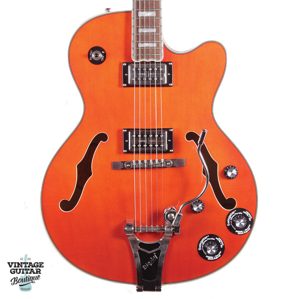 Epiphone EMPEROR SWINGSTER (SwingBucker™ pickups w/ Series/Par.) - Orange - Vintage Guitar Boutique - 3