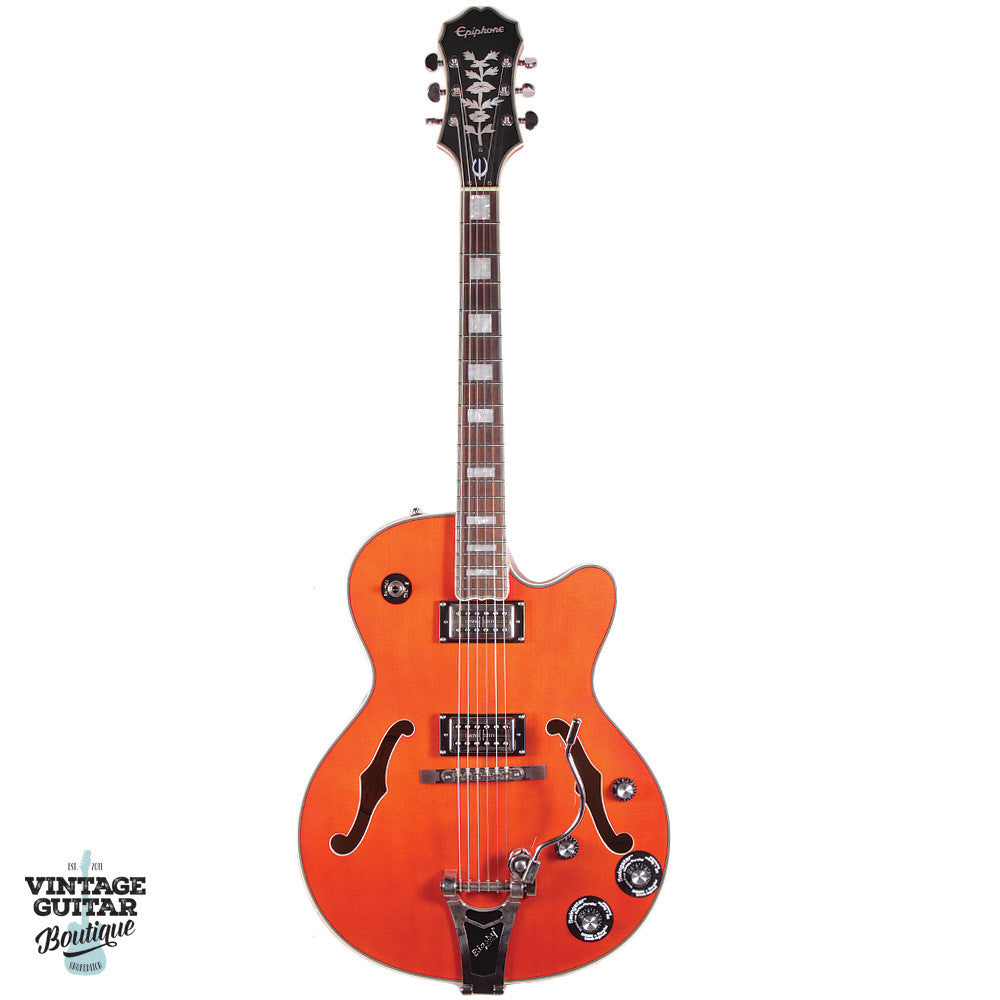 Epiphone EMPEROR SWINGSTER (SwingBucker™ pickups w/ Series/Par.) - Orange - Vintage Guitar Boutique - 2