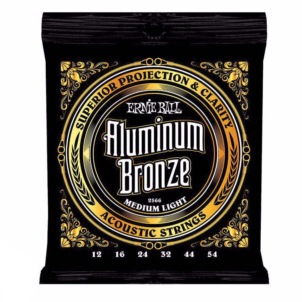 Ernie Ball 2566 Acoustic Aluminium Medium Lights - Vintage Guitar Boutique
