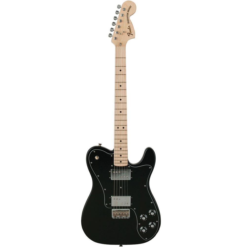 Fender Classic Series '72 Telecaster Deluxe - Maple - Black - Vintage Guitar Boutique - 3
