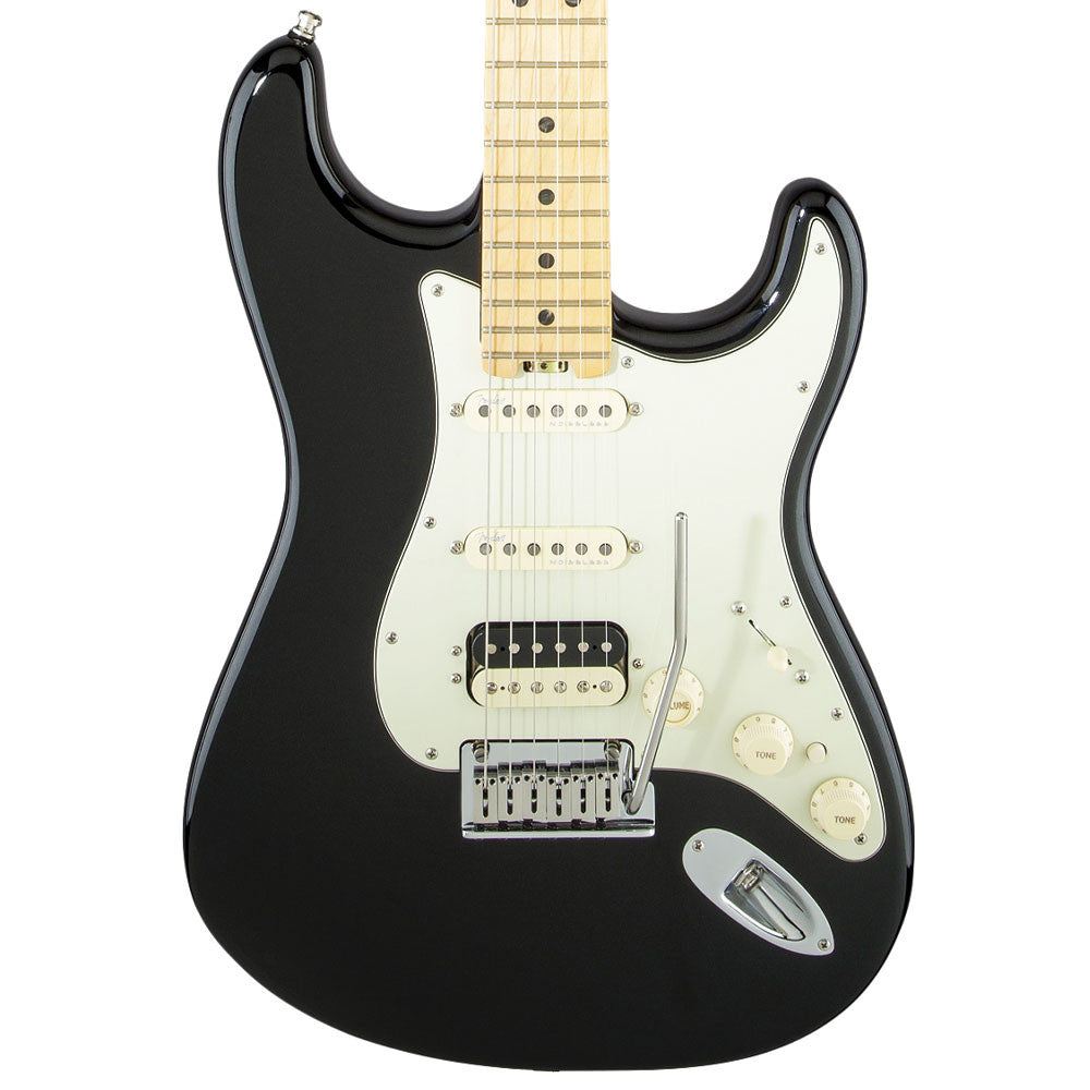 Fender American Elite Stratocaster HSS Shawbucker, Maple, Mystic Black - Vintage Guitar Boutique