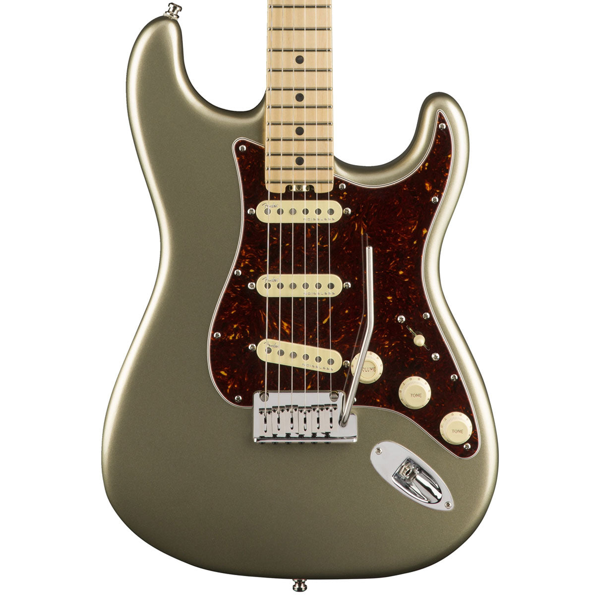 Fender American Elite Stratocaster, Champagne, Maple - SALE PRICE | Lucky Fret Music Co.