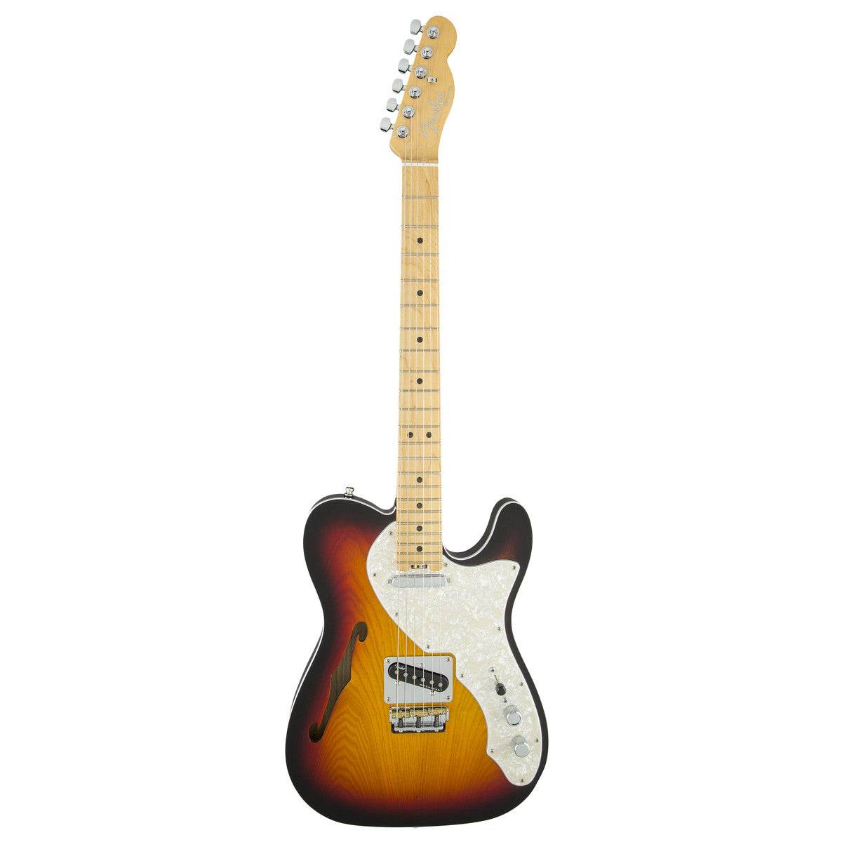 Fender American Elite Telecaster Thinline, Maple, 3-Tone Sunburst - Vintage Guitar Boutique - 2
