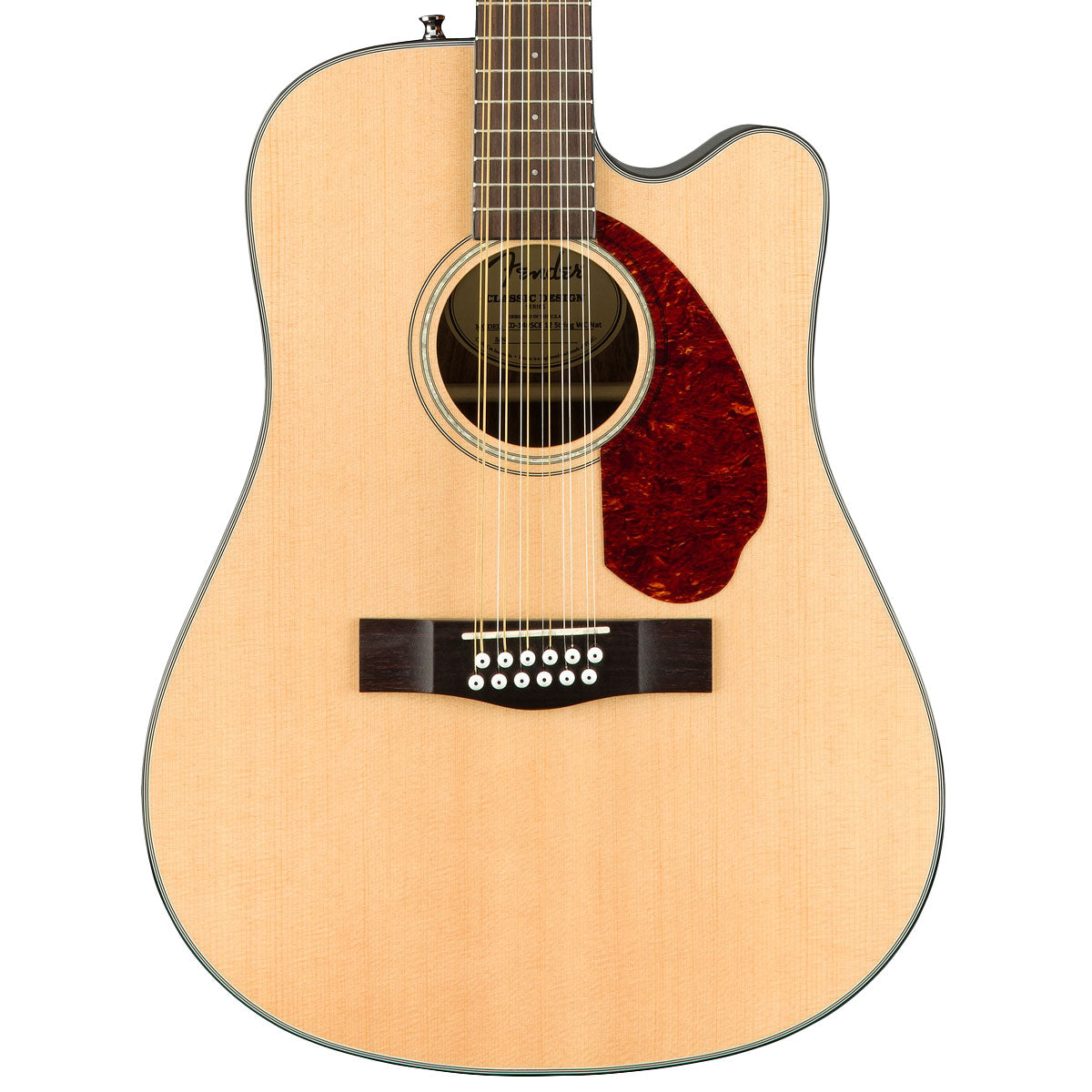 Fender CD-140SCE 12-String, Natural, Inc Hard Case | Lucky Fret Music Co.