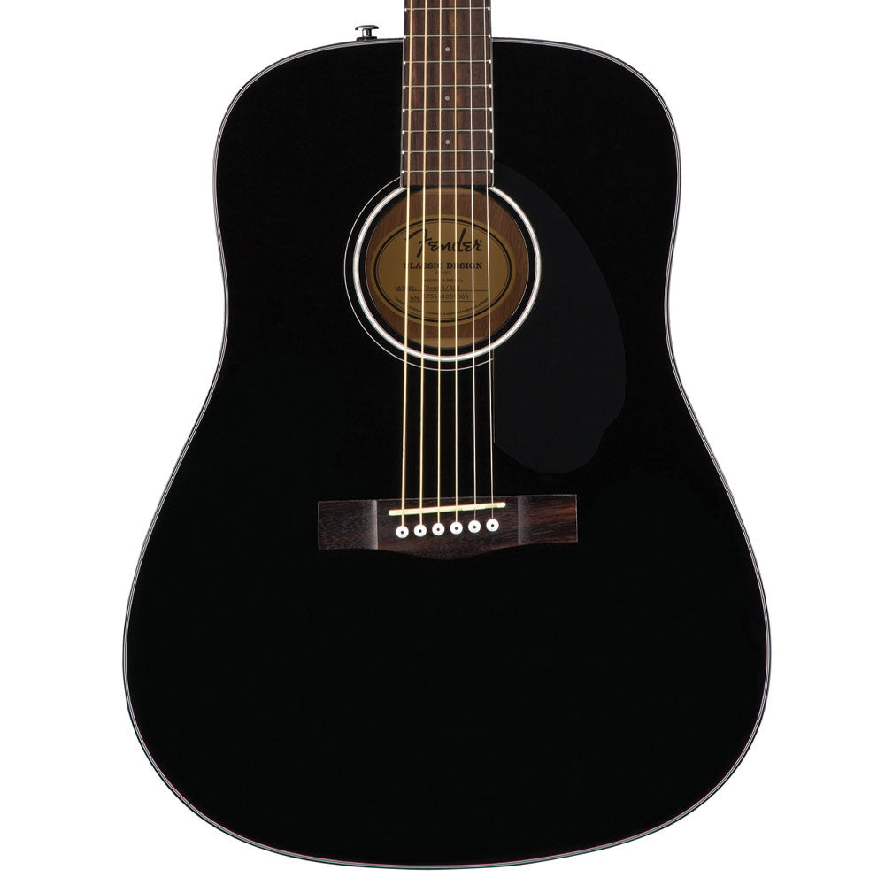 fender cd 60s black new acoustic guitar lucky fret music co. Black Bedroom Furniture Sets. Home Design Ideas