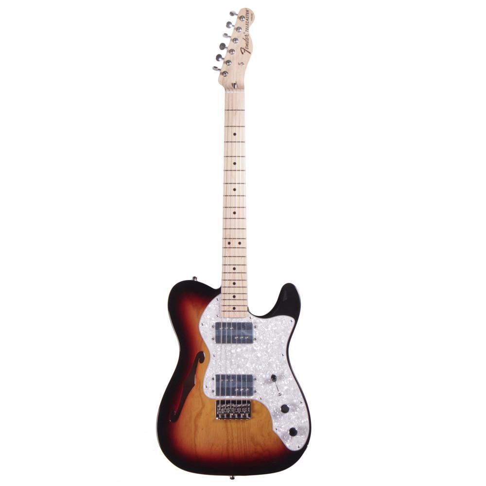 Fender Classic Series '72 Telecaster Thinline - Maple - 3-Color Sunburst - Vintage Guitar Boutique - 2