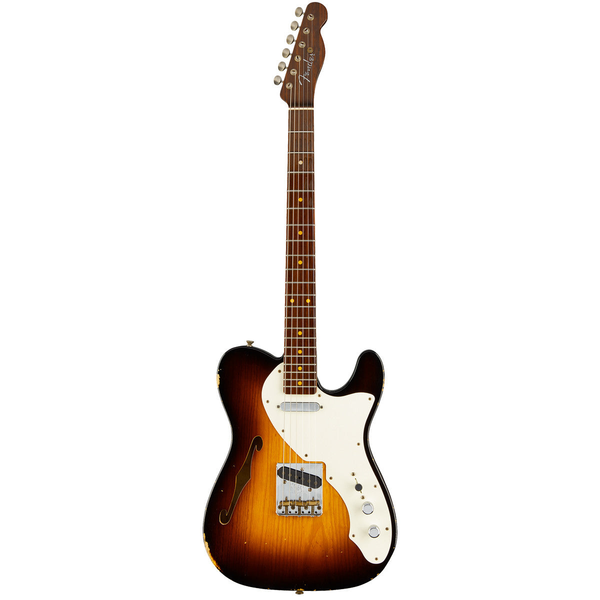 Fender Custom Shop - Limited Edition 50s Thinline Telecaster Relic - Wide Fade 2-Tone Sunburst | Lucky Fret Music Co.
