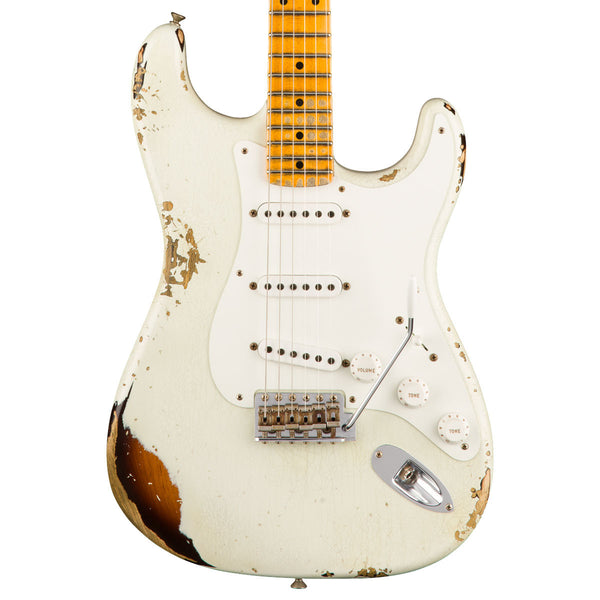 Fender Custom Shop - 1955 Heavy Relic Stratocaster - 55 Desert Tan over Chocolate 2-Tone Sunburst - Vintage Guitar Boutique