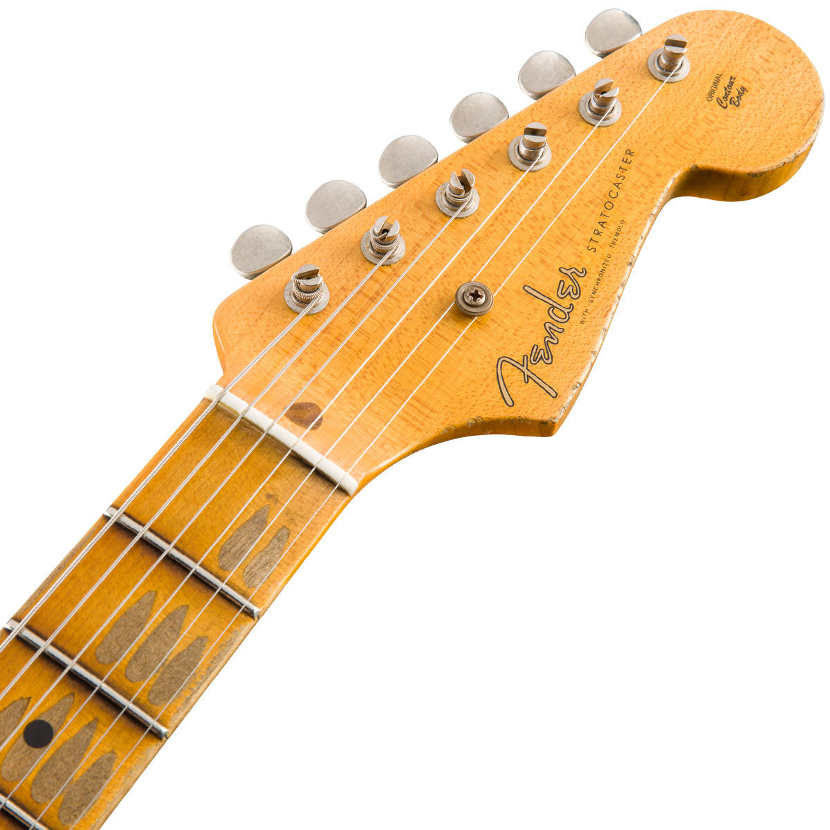 Fender Custom Shop 1955 Heavy Relic Stratocaster 55 Desert Tan over Chocolate 2 Tone Sunburst | Lucky Fret Music Co.