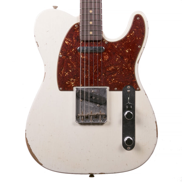 Fender Custom Shop 1961 Relic Telecaster Aged Olympic White | Lucky Fret Music Co.