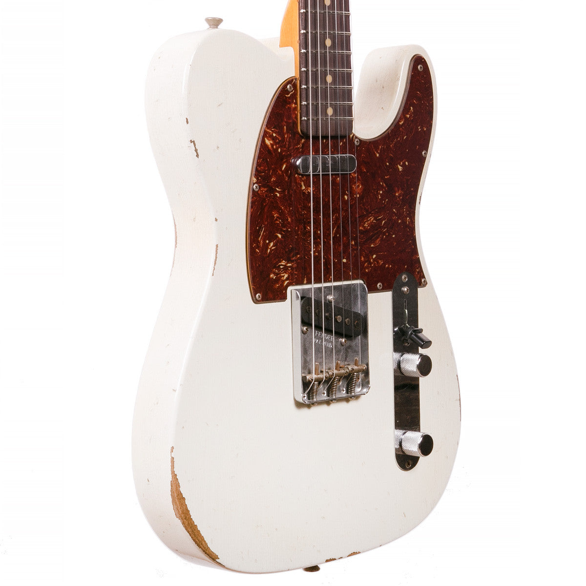 Fender Custom Shop - 1961 Relic Telecaster - Aged Olympic White - Vintage Guitar Boutique