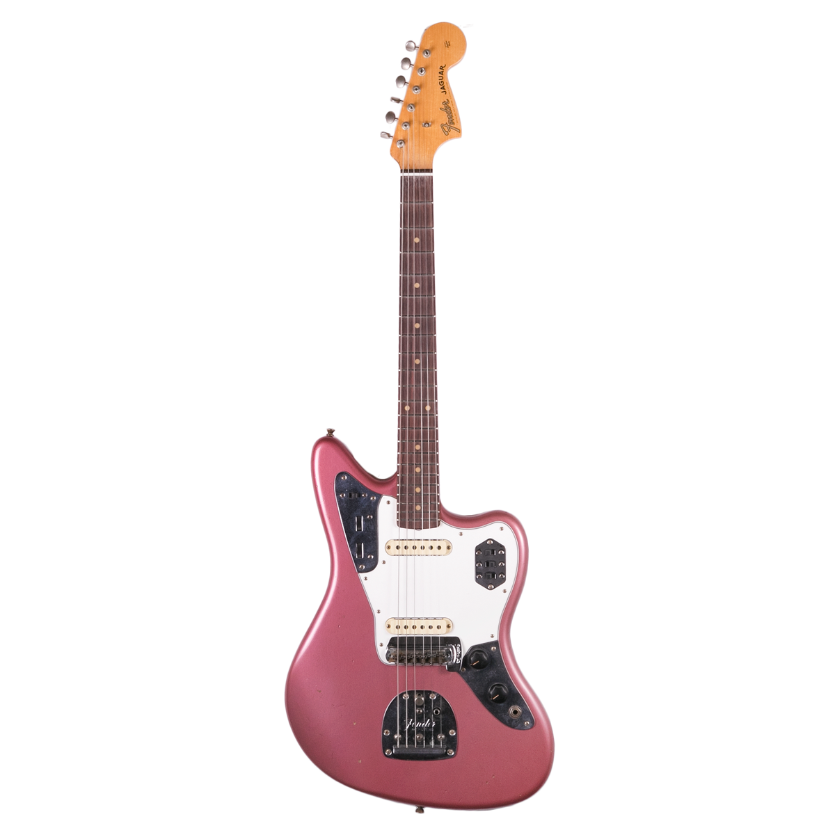 Fender Custom Shop 1963 Journeyman Relic Jaguar Aged Burgundy Mist | Lucky Fret Music Co.