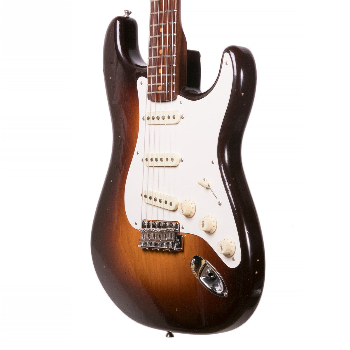 Fender Custom Shop - '57 Stratocaster Journeyman Relic, Rosewood - Chocloate 2-Tone Sunburst | Lucky Fret Music Co.