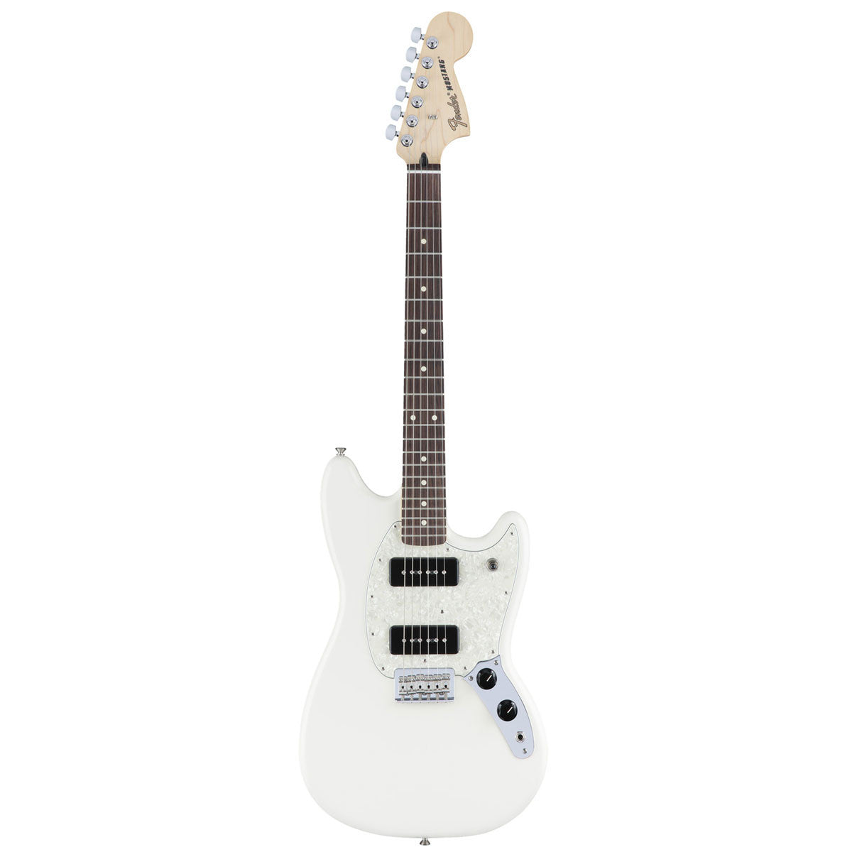 Fender Mustang 90 - Rosewood - Olympic White | Lucky Fret Music Co.