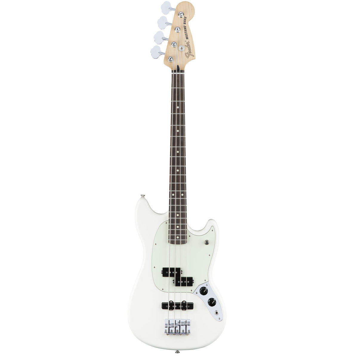 Fender Mustang Bass PJ - Rosewood - Olympic White - Vintage Guitar Boutique