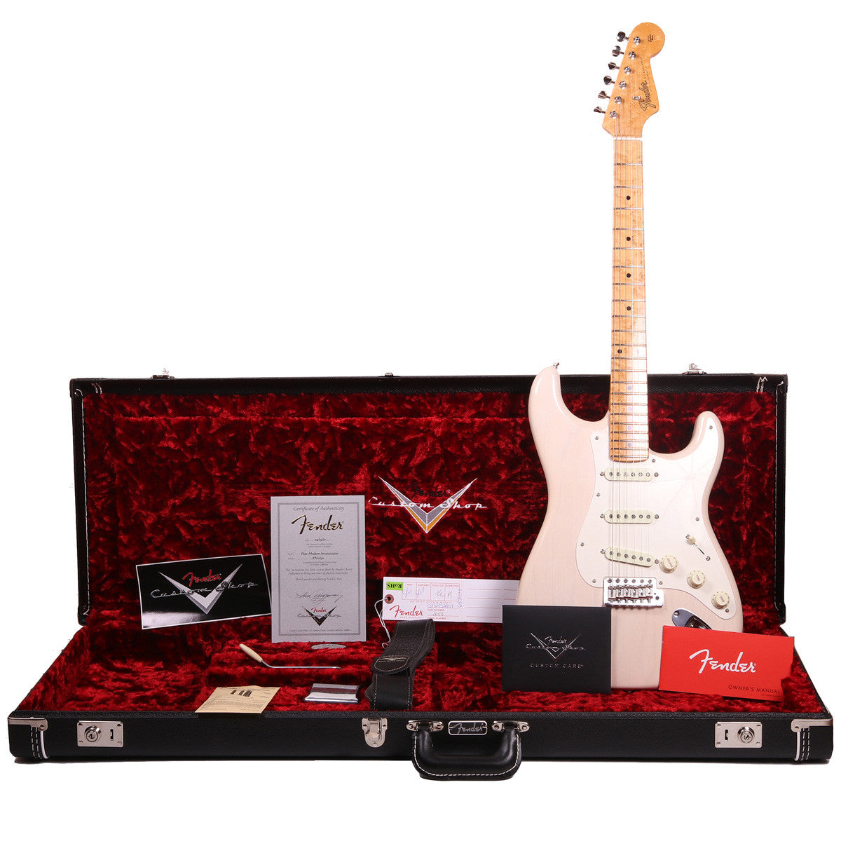 Fender Custom Shop Postmodern Stratocaster - Lush Closet Classic Aged White Blonde - SALE PRICE | Lucky Fret Music Co.