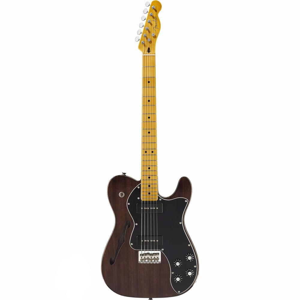 Fender Modern Player Telecaster Thinline Deluxe - Maple - Black Transparent - Vintage Guitar Boutique - 2