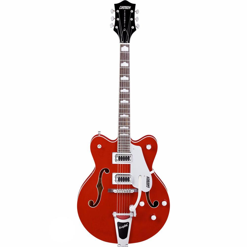 Gretsch G5422TDC - Electromatic Double Cut Hollow Body w/Bigsby - Transparent Red - Vintage Guitar Boutique - 2