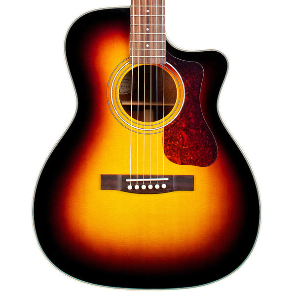 Guild OM-140CE - Sunburst - Westerly Collection - Vintage Guitar Boutique - 1