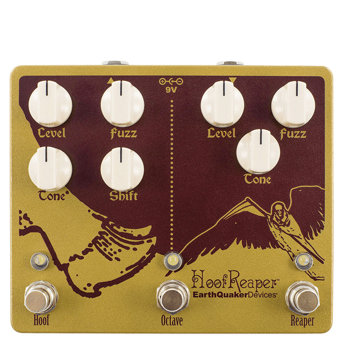 Earthquaker Devices Hoofreaper V2 Fuzz & Octave | Lucky Fret Music Co.